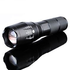 ALLWORLD Super Light T6 LED Flashlight with Adjustable Focus Stretchable Tactical Torch with 5 Modes Aluminum Alloy 3000 Lumens Lamp