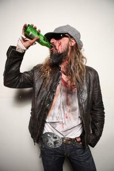 Rob Zombie. I think Piggy took this photo for Hellbilly Deluxe 2.