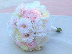 Blush wedding bouquet with silk peonies ranunculus roses gerbera daisies real touch hydrangeas https://www.etsy.com/listing/211286001/peony-bouquet-silk-peonies-wedding