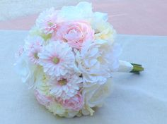Blush wedding bouquet with silk peonies ranunculus roses gerbera daisies real touch hydrangeas https://www.etsy.com/listing/211286001/peony-bouquet-silk-peonies-wedding