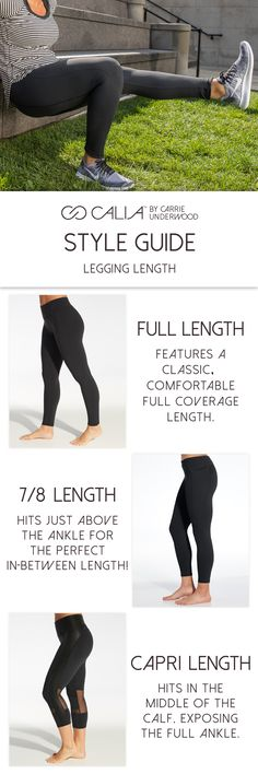 Use our Style Guide to find out which legging length is right for you. Fitness Gear, Physical Fitness, Fitness Fashion, Workout Gear, Workouts, Style Consultant, Yoga Energy, Sexy Workout Clothes, Calia By Carrie