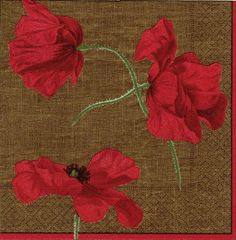 Entertaining with Caspari Dancing Poppies Paper Cocktail Napkins, Brown, Pack of 20 by Caspari. $6.84. Add beauty to every part of your life with Caspari?s coordinating gift cards, gift wrap/bags, and top quality candles. Pack of 20 paper cocktail napkins by caspari. Biodegradable and compostable; made using environmentally-conscious raw materials. Made of triple-ply tissue printed with non-toxic, water-soluble dyes; measures 5-square inch  (folded). Dancing p...