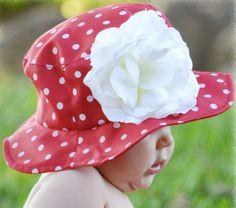 Adorable polka dot sun hat!