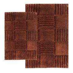 Checkerboard Contemporary Bath Rug