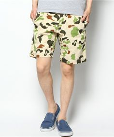ivory court MENS(アイボリーコート メンズ)のチノカモフラショーツ(パンツ)|ベージュ