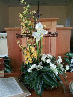 Flowers for church at easter