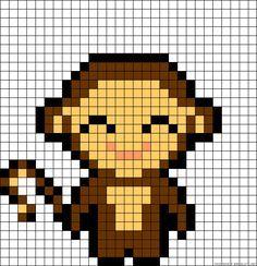 Cute Monkey perler bead pattern