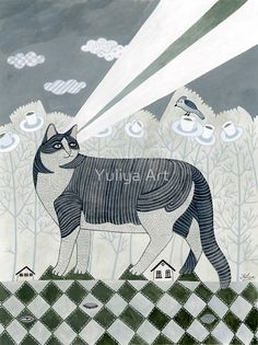 """Beaming Cat"" Photographic Prints by Yuliya Art | Redbubble"