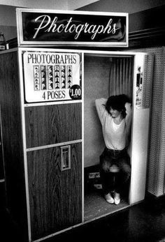 """Woolworth""""s photo booth."""