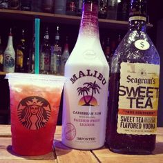 alcohol version of Starbucks's Shaken Iced Passion Tea Lemonade. Ahh sweet tea vodka is my fave! Party Drinks, Cocktail Drinks, Fun Drinks, Lemonade Cocktail, Vodka, Passion Tea Lemonade, Non Alcoholic, Alcoholic Beverages, Alcoholic Drinks With Lemonade