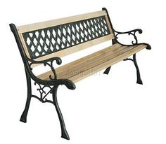 Foxhunter 3 #seater wooden slat #garden #bench lattice style cast iron legs park,  View more on the LINK: http://www.zeppy.io/product/gb/2/380353136806/