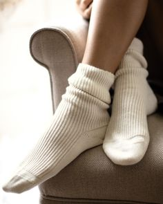 What seemed at the time of purchase a total indulgence now makes me wonder why I ever let my feet freeze in bed. These 100% cashmere bed socks from Pure keep my tootsies toasty at night and never touch the floor.