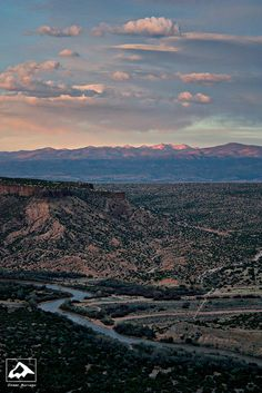 Truchas Peak and the Rio Grande, White Rock, NM.  Amazing photo by Isaac Borrego.