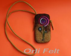 https://flic.kr/p/i713GL | Small Lightweight Felted Bag for Smartphone