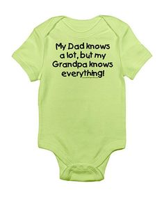 Take a look at this CafePress Kiwi 'Grandpa Knows Everything' Bodysuit - Infant by CafePress on #zulily today!