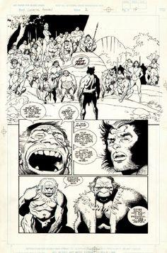Mignola - Wolverine: The Jungle Adventure p.19 Comic Art
