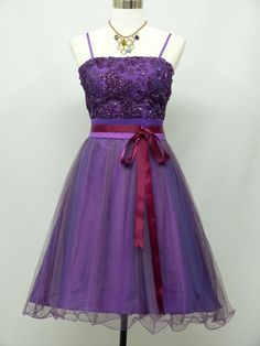 Cherlone Plus Size Satin Purple Prom Cocktail Party Ball Bridesmaid Dress 18-20 #Cherlone #Kneelength #Formal