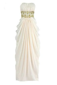 Chiffon greek bridal, bridesmaid dress, cocktail dress or prom gown. (Think this would look lovely on - not me tho! Greek Wedding Dresses, Grecian Wedding, Wedding Gowns, Greek Wedding Theme, Wedding Ideas, Evening Dresses, Prom Dresses, Bridesmaid Dresses, Bridesmaids