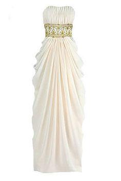 Chiffon greek bridal, bridesmaid dress, cocktail dress or prom gown.