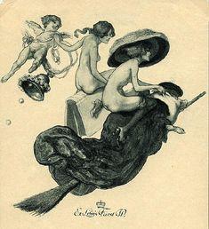 Ex Libris- 蔵書票 Bayros Room   バイロスの部屋 Room   10-285 1912