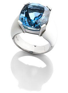 White gold, Topas, Aragonit Ring