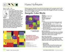 Great American Artists for Kids  Hans Hofmann: Energetic Color Blocks