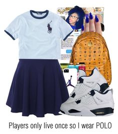 """""""Player Only Live Once"""" by certifiedmirixm ❤ liked on Polyvore featuring QNIGIRLS, NIKE and Ralph Lauren"""