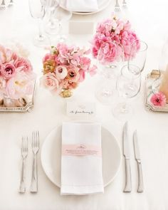 A very rosy table setting