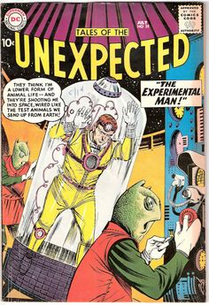 Tales of the Unexpected 39, Martians, Outer Space Adventures, Alien comic book, Astronauts. Vintage Silver Age. 1959 DC Comics in FN (6.0)