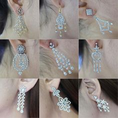 @petchchompoojewelry. Diamonds Earrings #jewelry #ไพลิน #jelwellery #luxury Long Diamond Earrings, Diamond Earing, Big Earrings, Diamond Heart, Diamond Jewelry, Drop Earrings, Boho Jewelry, Jewelery, Jewelry Design