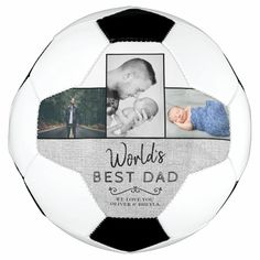 World`s Best Dad 3 Photo Collage Father`s Day Soccer Ball - tap to personalize and get yours #SoccerBall #father, #fathers #day, #create #your 3 Photo Collage, Old Fashioned Games, Family Fun Night, Worlds Best Dad, Sweet Messages, Shopping World, New Dads, Soccer Ball, Kids Learning
