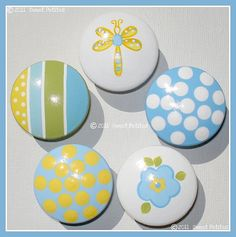 hand painted drawer knobs inspiration