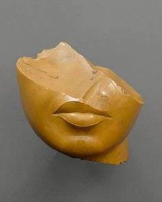 Fragment of a Queen's Face, New Kingdom, Amarna Period ca. 1353–1336 BCE. Yellow jasper stone.