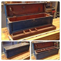 Antique Primitive Farrier's Wooden Tool Box Tote | Tool Chest ...