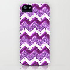 Chevron Plum iPhone & iPod Case by Alice Gosling - $35.00