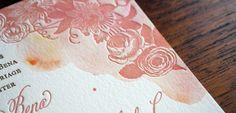 watercolor with letterpress #letterpress #watercolor