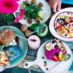 Summer menu's and midday weekend outdoor brunches. Australian brunch is a must have