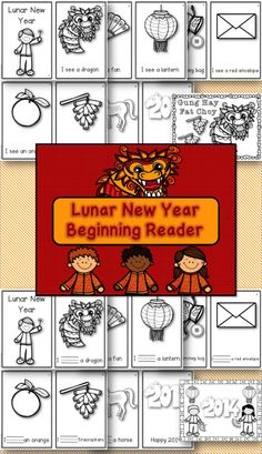 $1 Lunar New Year is Jan. 31st. Be prepared with this emergent reader! Perfect for PreK-1.  Two versions plus two coloring sheets included!