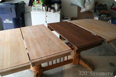 Great step by step explanation on refinishing those old old tables so many of us have...