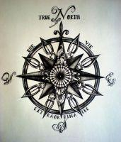True North Compass Tattoo by DesertDahlia