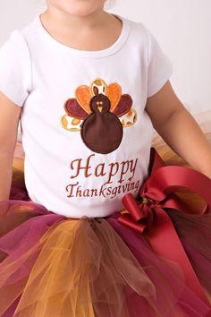 Thanksgiving Dress Gobble Til You Wobble Shirt Brown Rainbow Baby Skirt 3-12m