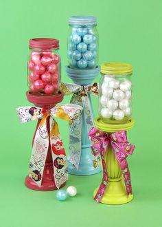 Offray Ribbon Mason Jar Party Decor