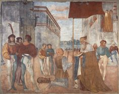 Doge Agostino Barbarigo Handing over a Banner to Niccolò Orsini. Fresco transferred to canvas, attrib. to Girolamo Romanino, c. 1508-09, Museum of Fine Arts, Budapest