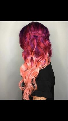 The top color bit of this hairstyle ❤