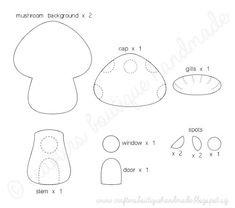 3969001033 Free Template for Felt Woodland Creatures