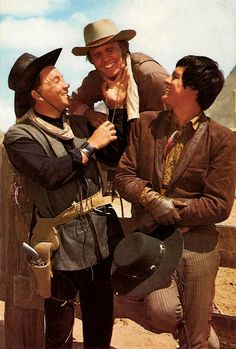Cameron Mitchell, Billy Blue and Henry Darrow in The High Chaparral Cameron Mitchell, Film Icon, The High Chaparral, Tv Westerns, Black Actors, Vintage Tv, Native American Indians, Cowboys, Tv Series