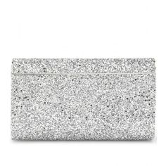 Jimmy Choo Cayla Glitter Clutch ($1,195) ❤ liked on Polyvore