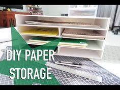 How to make a paper drawer box - DIY Desk Organizer Easy Diy Storage Desk, Cardboard Storage, Desk Organization Diy, Cardboard Crafts, Diy Desk, Craft Storage, Storage Shelving, Cardboard Boxes, Paper Tray Organizer