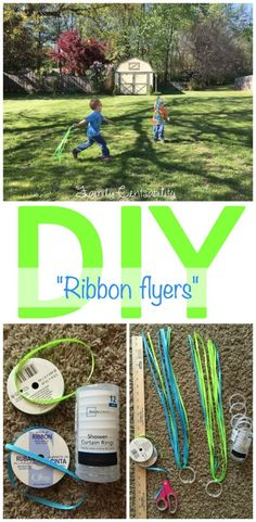 Whether a 5 minute afternoon craft or fun DIY party favor, kids will love running around the yard with these easy to make ribbon flyers!
