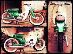 Fat-tired custom cub.... nice green going on with this one!